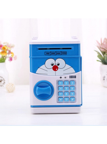 Копилка сейф с кодовым замком и купюроприемником для бумажных денег и монет