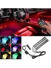 Универсальная светодиодная RGB led подсветка салона с микрофоном для автомобиля HR-01678