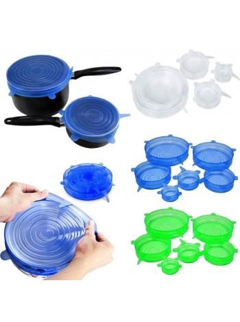 Набор силиконовых крышек silicon lids из 6-ти штук