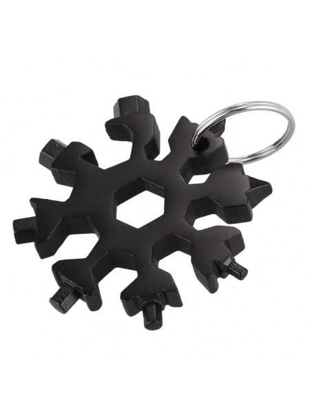 Мультитул отвертка 18в 1 в виде снежинки SNOWFLAKE WRENCH TOOL, шестигранник, гаечный ключ, карманная отвертка