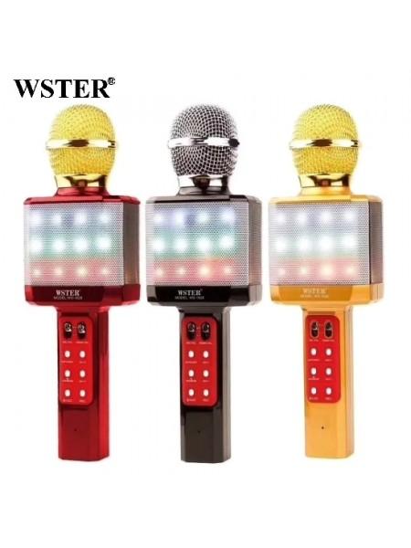Микрофон Karaoke WS 1828 с FM-радио, USB, TF, microUSB, сменой голоса и подсветкой