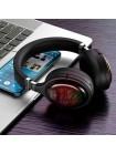 Наушники Bluetooth XO BE18 Stereo с микрофоном и RGB подсветкой