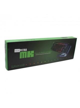 Проводная клавиатура с подсветкой LED и мышь PETRA MK1