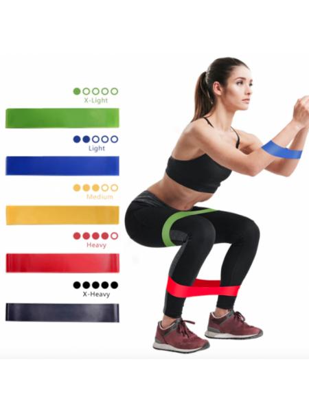 Резинки для фитнеса Набор из 5 штук