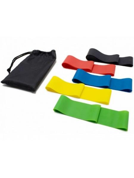 Резинки для фитнеса Loop Bands. Набор из 5 резинок и чехол.