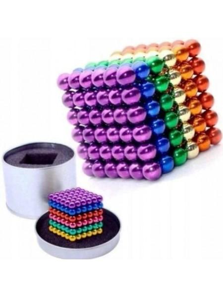 Конструктор головоломка Neocube 216 шариков, неокуб цветной (Радуга), магнитные шарики антистресс