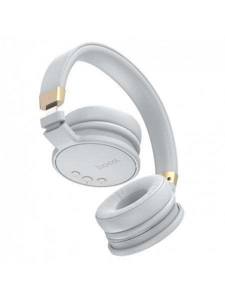 Наушники MP3 беспроводные накладные складные с картой памяти с микрофоном Bluetooth HOCO Enjoyment Hi-Res W26