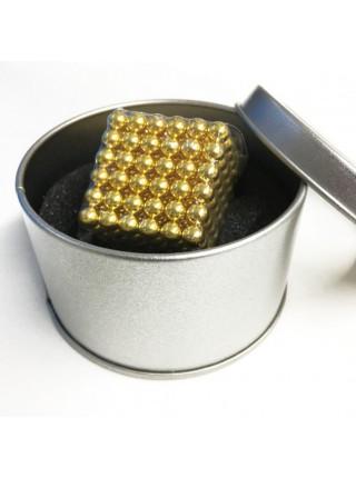 Головоломка Neocube нео куб магнитная 216 шариков Золотая