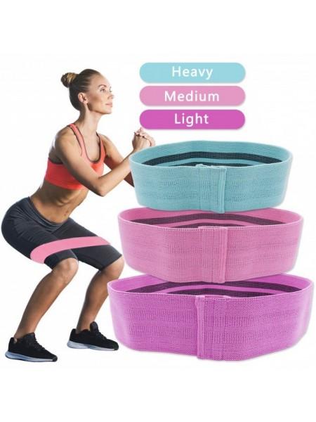 Набор тканевых резинок для фитнеса Hip Resistance Band 3 шт
