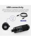 Студийный конденсаторный usb микрофон  M-900 с пантографом и ветрозащитой