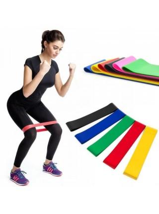 Резинка для фитнеса и спорта Fit4u (эластичная лента) набор 5 шт + Чехол в комплекте
