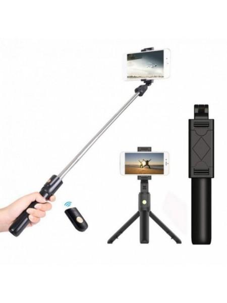 Селфи палка штатив тренога для телефона Bluetooth с пультом Selfie Stick K07