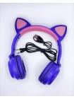 Беспроводные наушники с кошачьими ушками складные ZW-028 Cat Ear с LED подсветкой
