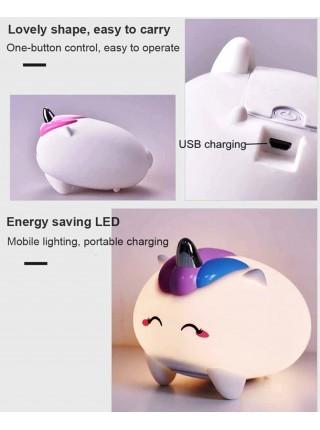 Ночник игрушка детский силиконовый светильник Единорог 125