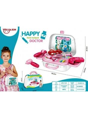Игровой набор доктора, набор доктора в чемодане Happy doctor 13 предметов