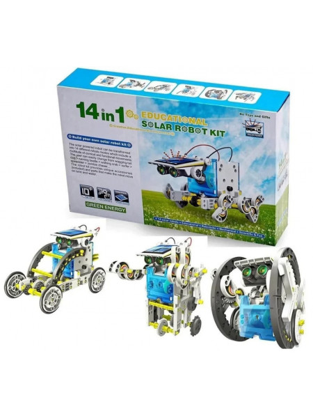 Конструктор робот Educational Solar Robot Kit 14 in 1 на солнечных батареях
