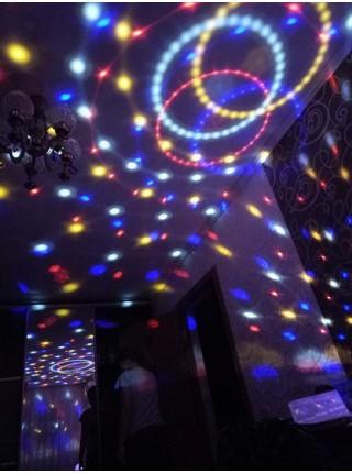 Диско шар  лампа. Светодиодный диско шар LED MAGIC BALL LIGHT с MP3, USB