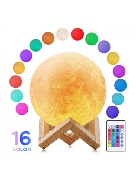 Настольный светильник Луна Moon Night Light 18 см с пультом 16 цветов