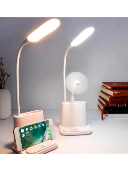 Настольная Led лампа со встроенным аккумулятором multifunctional DESK с вентилятором