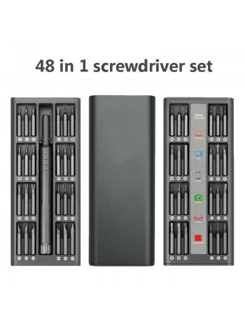 Отвертка универсальная с 48 битами в футляре Для ремонта телефонов и электроники