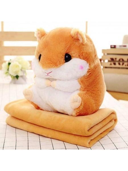 Мягкая игрушка Хомяк 3 в 1 плед, игрушка, подушка