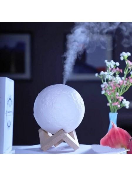 Увлажнитель воздуха и ночник 3D Moon Lamp ультразвуковой