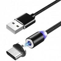 Магнитный кабель USB  Magnetic Cable type-c в нейлоновой оплетке