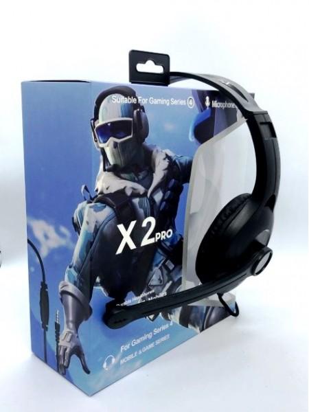 Наушники проводные X2 PRO игровые с микрофоном