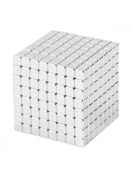 Магнитные кубики-головоломка NEOCUBE (V5) комплект (512 шт) Silver