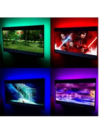 Светодиодная LED лента RGB 2 м с пультом для фоновой подсветки ТВ или монитора