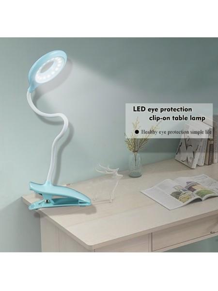 Светодиодная аккумуляторная настольная LED лампа 6530 сенсорная на прищепке