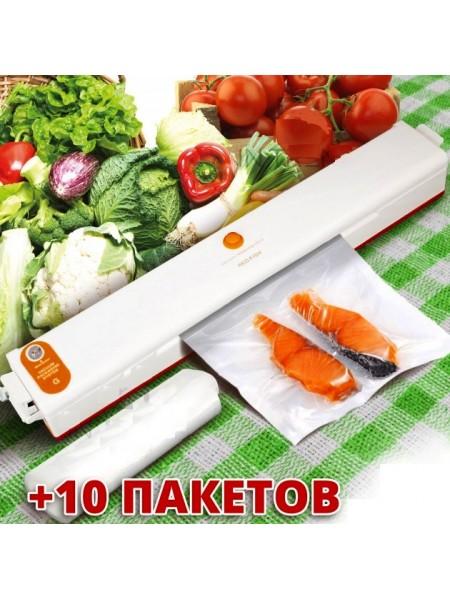 Вакууматор вакуумный упаковщик еды Freshpack Pro + вакуумные пакеты 10 шт