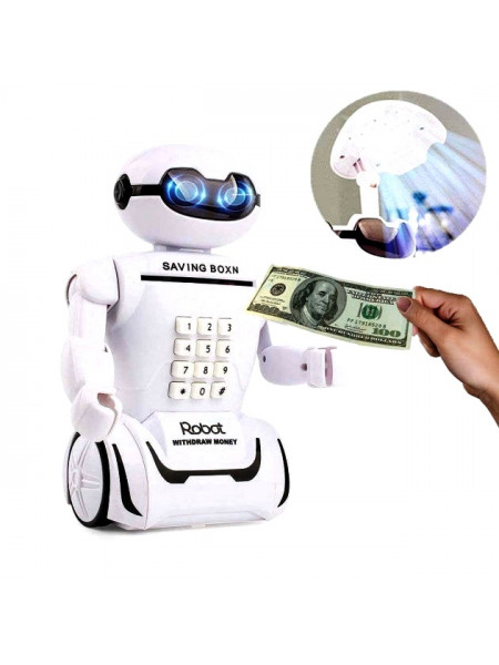 Электронная копилка робот с кодом Robot Piggy Bank со светильником, 10 мелодий