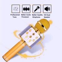 Беспроводной караоке микрофон колонка Bluetooth с динамиком WS858