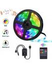 Комплект светодиодная лента LED 5050 +mic, RGB, музыкальный контроллер