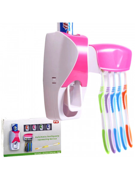 Дозатор для зубной пасты с подставкой для 5 зубных щеток