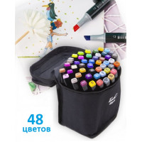 Скетч маркеры Touch двусторонние для рисования скетчинга 48шт