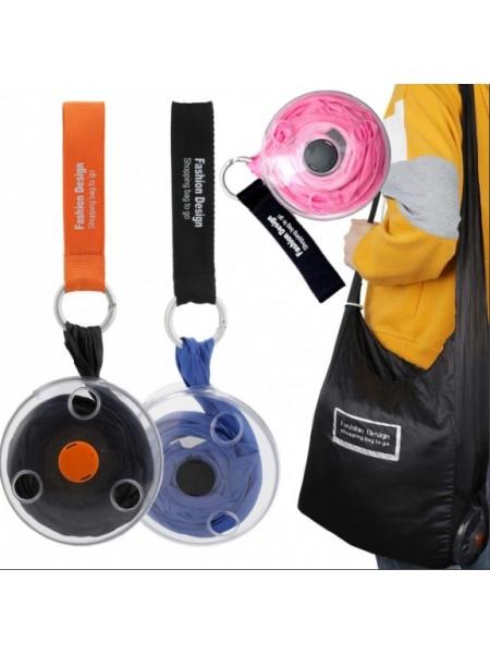 Складная компактная сумка шоппер Shopping Bag To Roll Up 33х40см