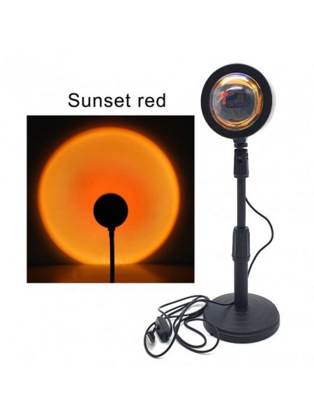 Проекционный LED светильник закат Sunset Lamp лампа-светильник USB проектор