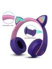 Беспроводные наушники с ушками CAT EAR 58M и LED подсветкой