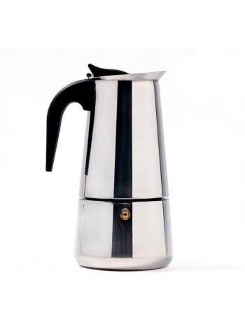 Гейзерная кофеварка из нержавеющей стали 450 мл на 9 чашек