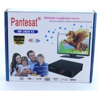 Тюнер DVB-T2 Pantesat 3820 HD с поддержкой wi-fi адаптера
