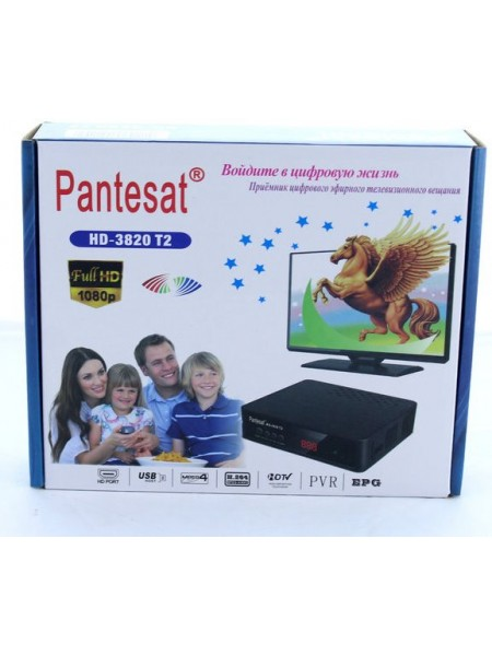 Тюнер DVB-T2 Pantesat 3820 HD с поддержкой wi-fi адаптера