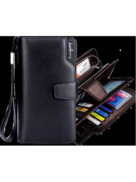 Супер вместительный мужской кошелек, портмоне Baellerry  модель S1063 черный