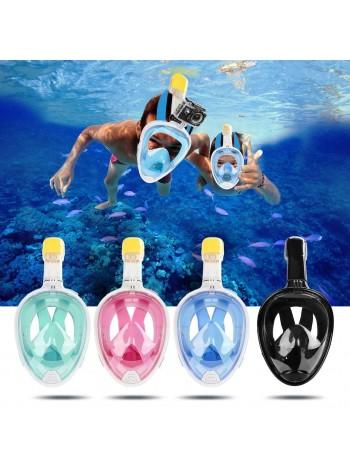 Маска подводная полнолицевая для плавания Free Breath, для снорклинга